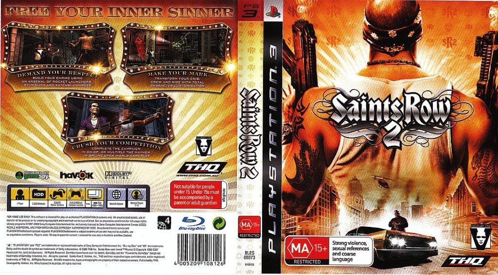 SAINTS ROW 2 (PS3 - Australia)
